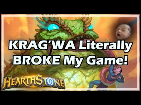 KRAG'WA Literally BROKE My Game! - Rastakhan's Rumble Run Hearthstone