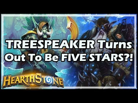 TREESPEAKER Turns Out To Be FIVE STARS?! - Rastakhan's Rumble Hearthstone
