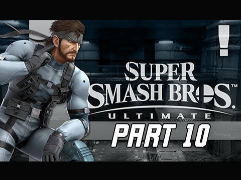 SUPER SMASH BROS ULTIMATE Gameplay Walkthrough Part 10 - Solid Snake