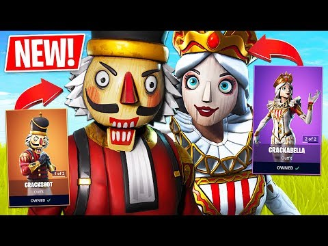 Fortnite *NEW* Crackshot & Crackabella Christmas Skins!! // 1700 Wins // Fortnite Live Gameplay