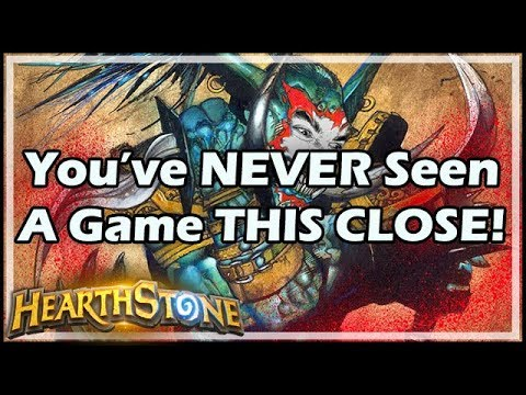 You've NEVER Seen A Game THIS CLOSE! - Rastakhan's Rumble Hearthstone