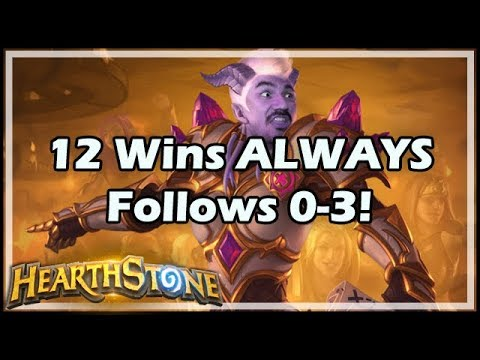 12 Wins ALWAYS Follows 0-3! - Rastakhan's Rumble Hearthstone