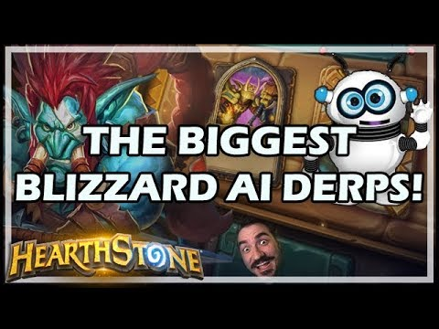 THE BIGGEST BLIZZARD AI DERPS! - Rastakhan's Rumble Run Hearthstone