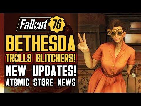 Fallout 76 - Bethesda Trolls Glitchers! Finally Listening About Atomic Shop? New Shop Items!