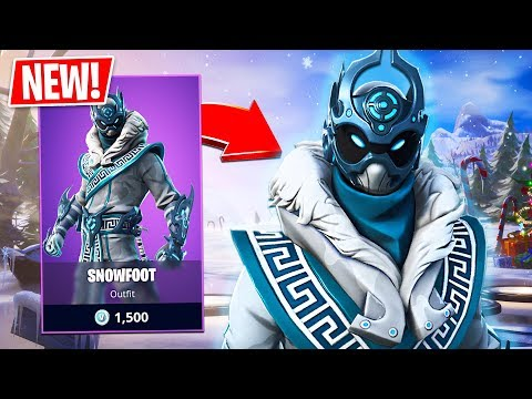 New Snowfoot Skin! // Pro Fortnite Player // 1800 Wins // Fortnite Live Gameplay
