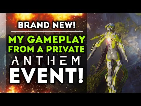 Anthem - New Gameplay I Recorded at A EA Private Event! Interceptor! Tank Colussus Gameplay!