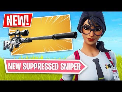 Fortnite *NEW* Suppressed Sniper Rifle Gameplay!! *Pro Fortnite Player* (Fortnite Battle Royale)
