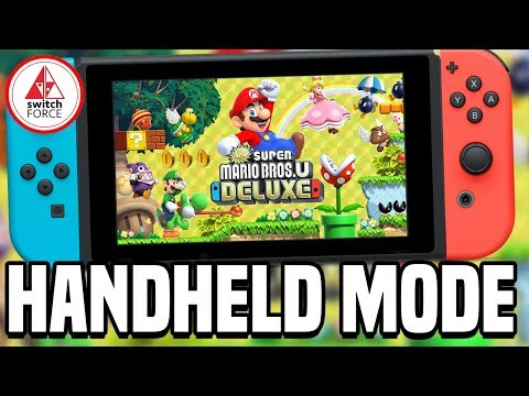 New Super Mario Bros U Deluxe Switch - How Does It Run in Handheld Mode?!