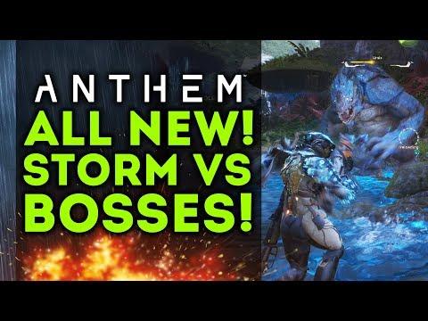 Anthem - All New Storm vs Bosses Gameplay in Free Roam! Tough Enemies! Storm Javelin!