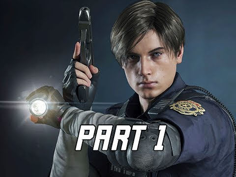 RESIDENT EVIL 2 REMAKE Walkthrough Part 1 - Leon Kennedy (Let's Play RE2 Remake)