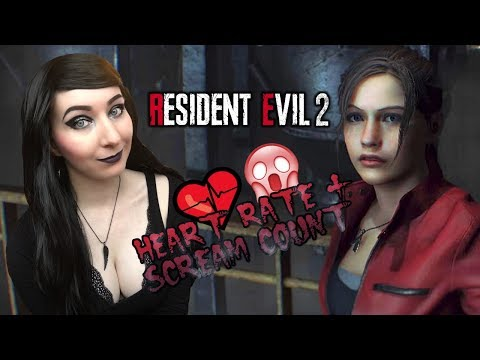 SO SCARED!!  - Resident Evil 2: Remake Claire A Gameplay Part 1 - HEART RATE + SCREAM COUNT