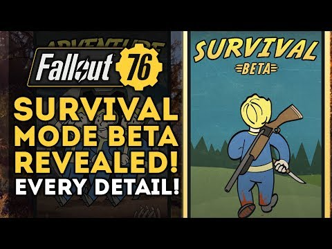 Fallout 76 - Survival Mode BETA Revealed! PVP INFO BLOWOUT! New Patch Info!