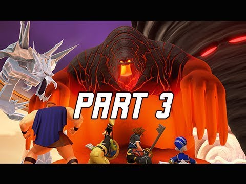 KINGDOM HEARTS 3 Walkthrough Gameplay Part 3 - TITANS Boss Battle (KH3 Let's Play)