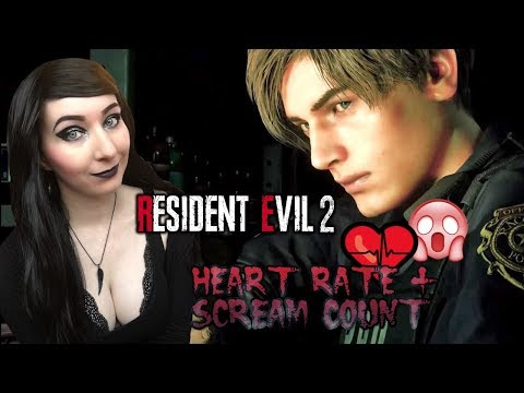 HERE WE GO AGAIN!!  - Resident Evil 2: Remake Leon B Gameplay Part 1 - HEART RATE + SCREAM COUNT