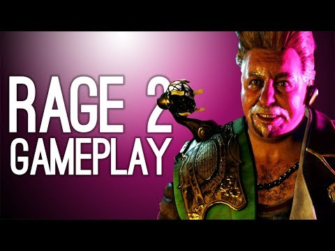 Rage 2 New Gameplay - RACING, MUTANTS, COCKTAIL SAUSAGES - Rage 2 Campaign Gameplay