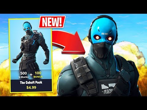 New Cobalt Pack Skin! (Fortnite Battle Royale Gameplay)