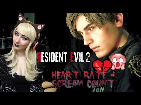 MORE SCREAMING!!  - Resident Evil 2: Remake Leon B Gameplay Part 2 - HEART RATE + SCREAM COUNT
