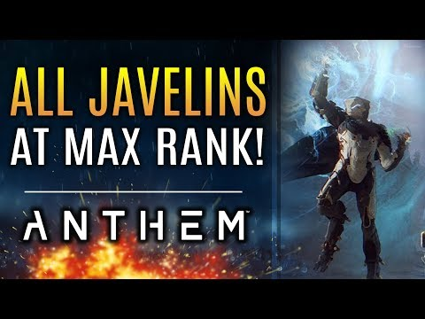 Anthem - ALL JAVELIN'S MAX RANK Level 30! Storm, Interceptor, Colossus Ranger! New Gameplay!