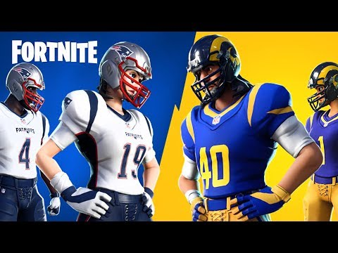 Super Bowl 2019: Patriots vs Rams!! (NFL Rumble, Fortnite Battle Royale)