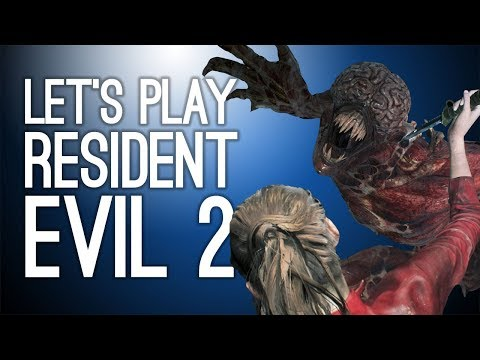 Let's Play Resident Evil 2 Remake: LEON VERSUS THE LICKERS! Episode 2