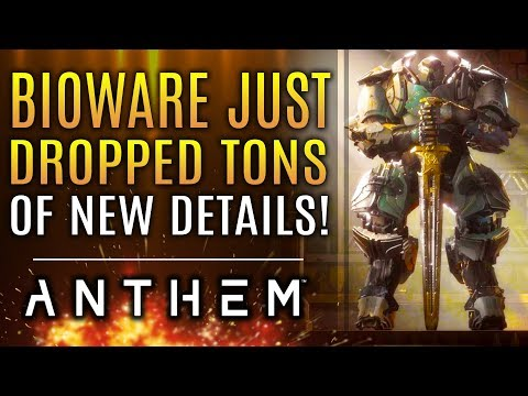 Anthem - Bioware Just Dropped a TON of NEW INFO! The Fury, Removed Features! 3rd Stronghold!