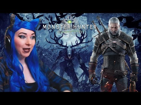 Monster Hunter World Witcher DLC Quest - Hunting The Leshen REACTION Gameplay