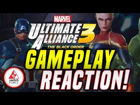 Marvel Ultimate Alliance 3 GAMEPLAY TRAILER REACTION! EVERY NEW CHARACTER IN GAME!