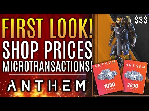 Anthem - FIRST LOOK! Shop Prices & Microtransactions! ARE THEY FAIR? Legion of Dawn Legendary Items!