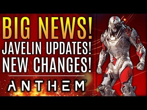 Anthem - BIG NEWS! Huge Patch Reveals Javelin Changes, Weapon Updates and More!