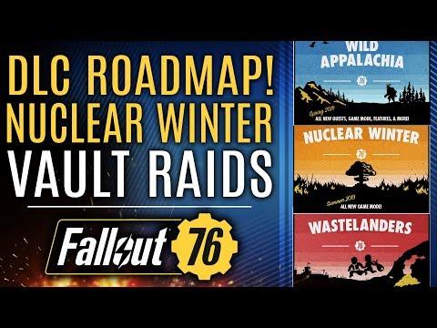 Fallout 76 - Nuclear Winter DLC! Vault Raids Revealed! HUGE DLC Roadmap for 2019! Big News Update!