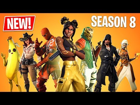 Fortnite Season 8 Gameplay! New Season 8 Battle Pass, New Map & New Skins! (Fortnite Battle Royale)