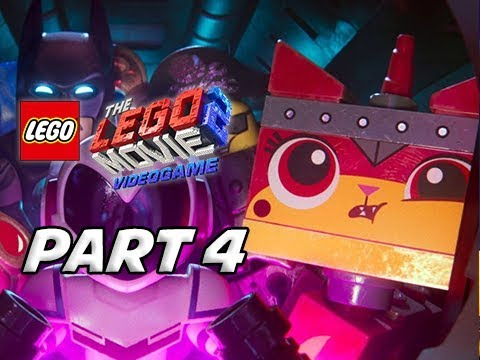LEGO MOVIE 2 Gameplay Walkthrough Part 4 - Unikitty (Video Game Let's Play)