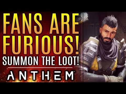 Anthem Fans Are FURIOUS About Bioware's Recent Loot Comments!  New Updates!