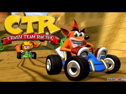 Lets Play CTR Crash Team Racing Remarsted? PS1 Gameplay