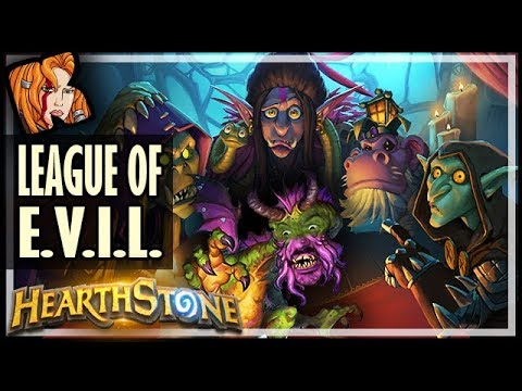 THE LEAGUE OF E.V.I.L. DECK! - Rise of Shadows Hearthstone