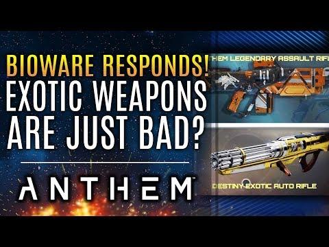 Anthem - Legendary Weapons Suck? Bioware Responds! Plus New Updates About Patch 1.0.4!