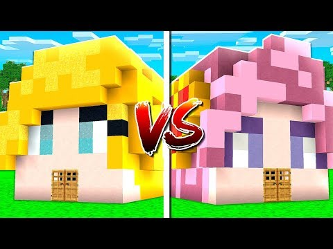 BriannaPlayz vs Leah Ashe Minecraft House Build Challenge (MCPE)