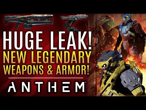 Anthem - HUGE LEAK! New Legendary Weapons! New Armors!  All New Updates!