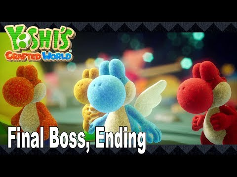 Yoshi's Crafted World - Final Boss, Ending and Credits [HD 1080P]