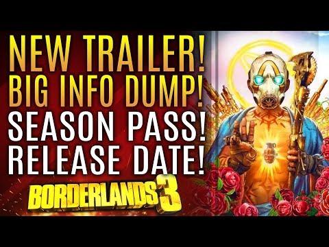 Borderlands 3 - NEW TRAILER! Official Release Date! Season Pass! New Gameplay Info!