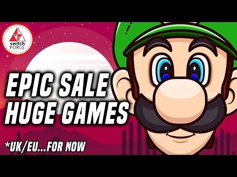 HUGE New Switch eShop Sale! BIG Nintendo Games, Big Discounts!