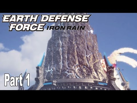 Earth Defense Force: Iron Rain - Story Walkthrough Part 1 No Commentary [HD 1080P]