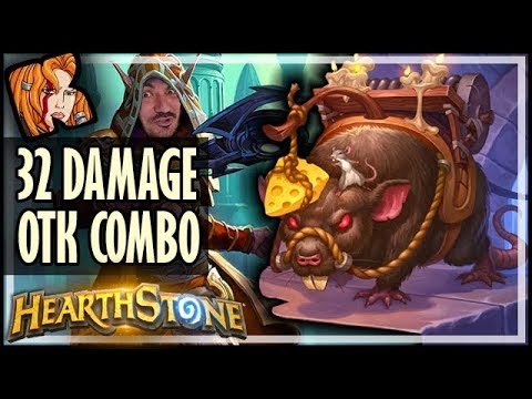 32 DMG OTK COMBO! WARMAGE ROGUE - Rise of Shadows Hearthstone