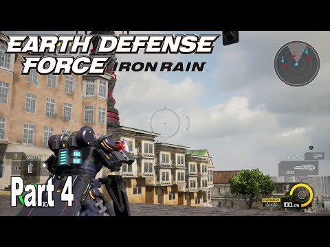 Earth Defense Force: Iron Rain - Story Walkthrough Part 4 No Commentary [HD 1080P]