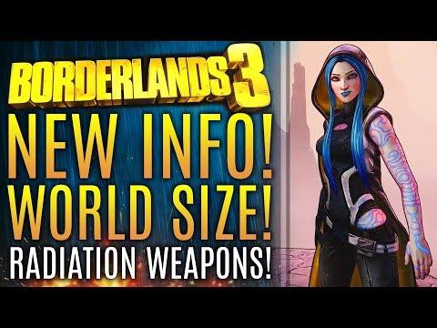 Borderlands 3 - New Updates! World Size vs Borderlands 2! New Radioactive Weapons!