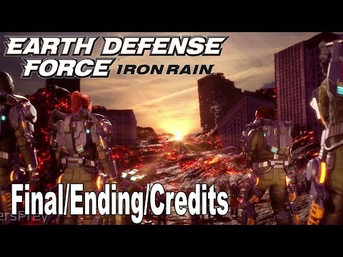 Earth Defense Force: Iron Rain - Final Boss, Ending and Credits [HD 1080P]