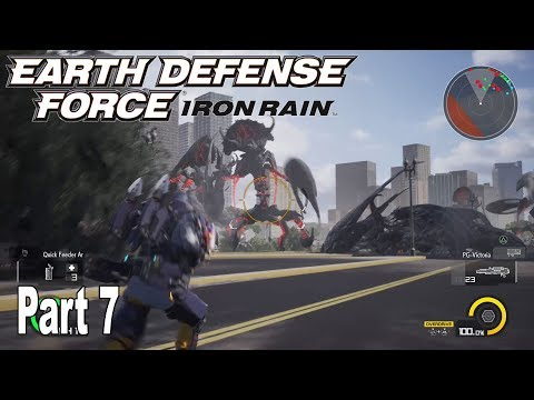 Earth Defense Force: Iron Rain - Story Walkthrough Part 7 No Commentary [HD 1080P]