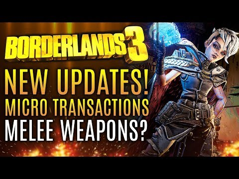 Borderlands 3 - BRAND NEW UPDATES! Microtransactions! How Will They Work? New Gameplay Info!