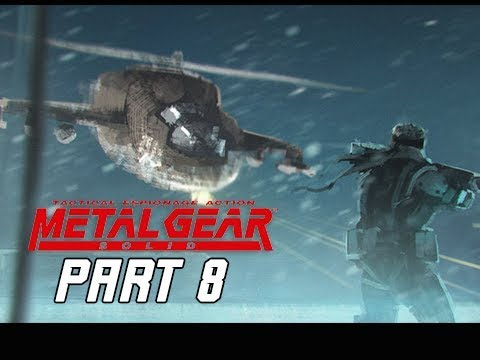 METAL GEAR SOLID Gameplay Walkthrough Part 8 - HIND D (RETRO PSX Classic)