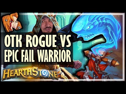 OTK ROGUE vs EPIC FAIL WARRIOR - Rise of Shadows Hearthstone